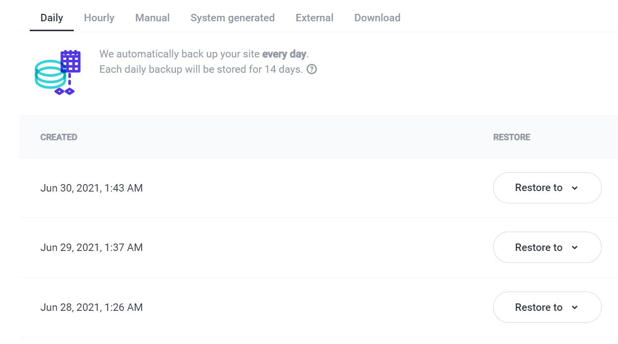 Restoring a WordPress backup