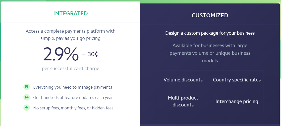 Stripe plans and pricing