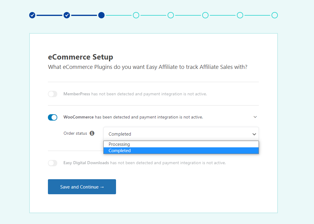 Enabling WooCommerce payment integration