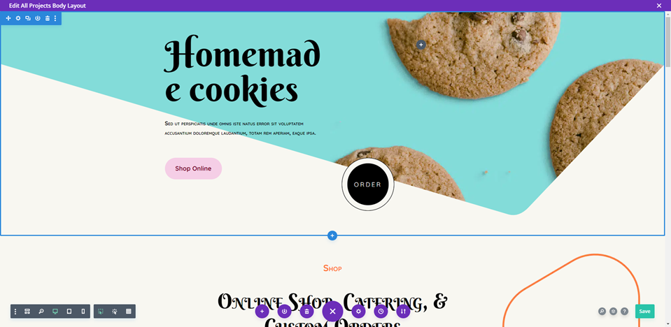 chosen page for divi