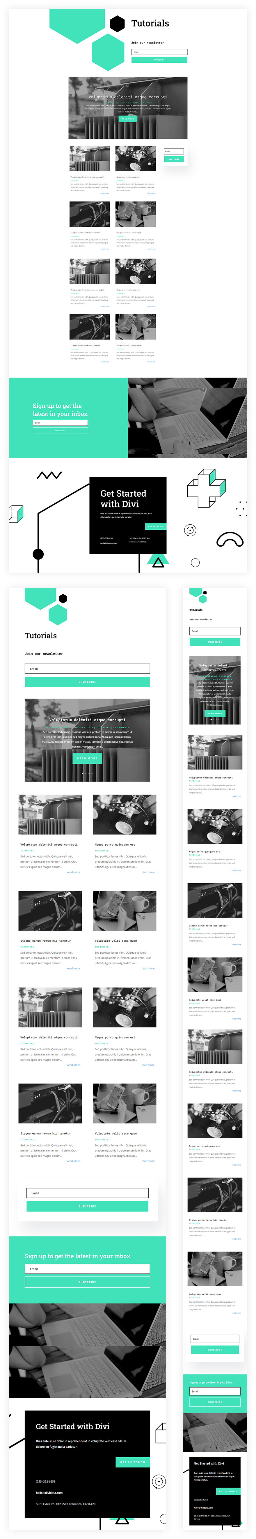 data science category page template