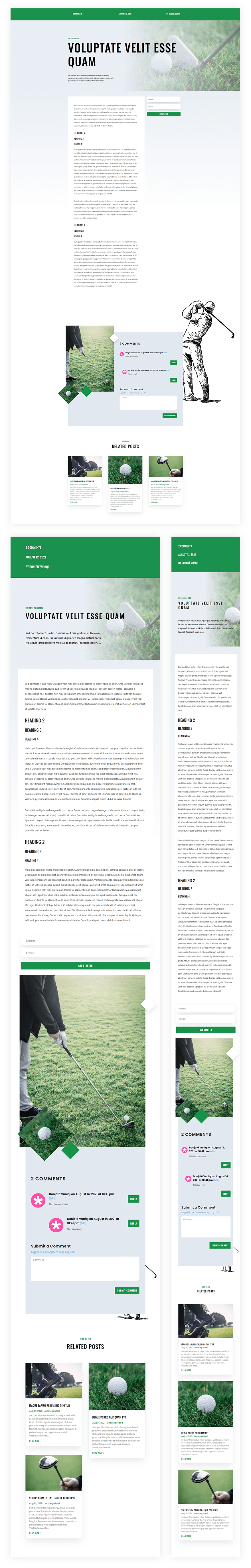 golf lessons blog post template