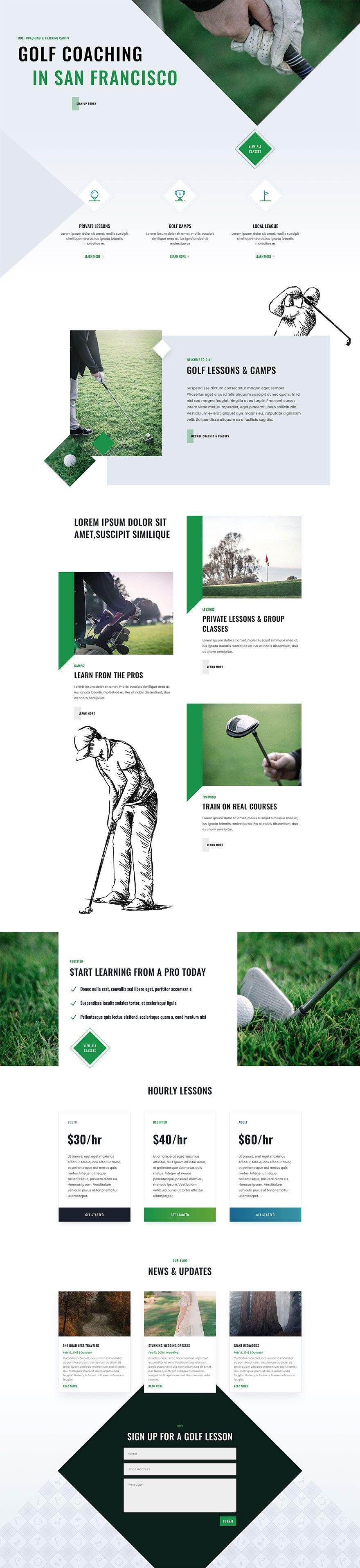 golf lessons website