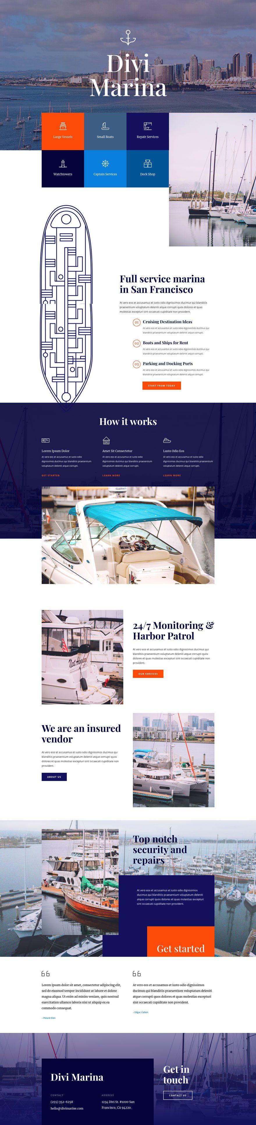 divi marina layout pack
