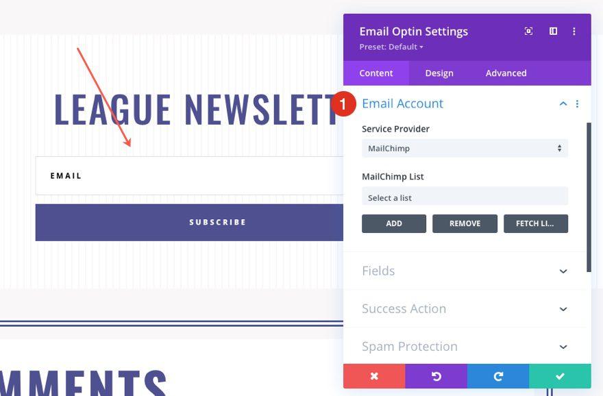 divi softball league blog post template