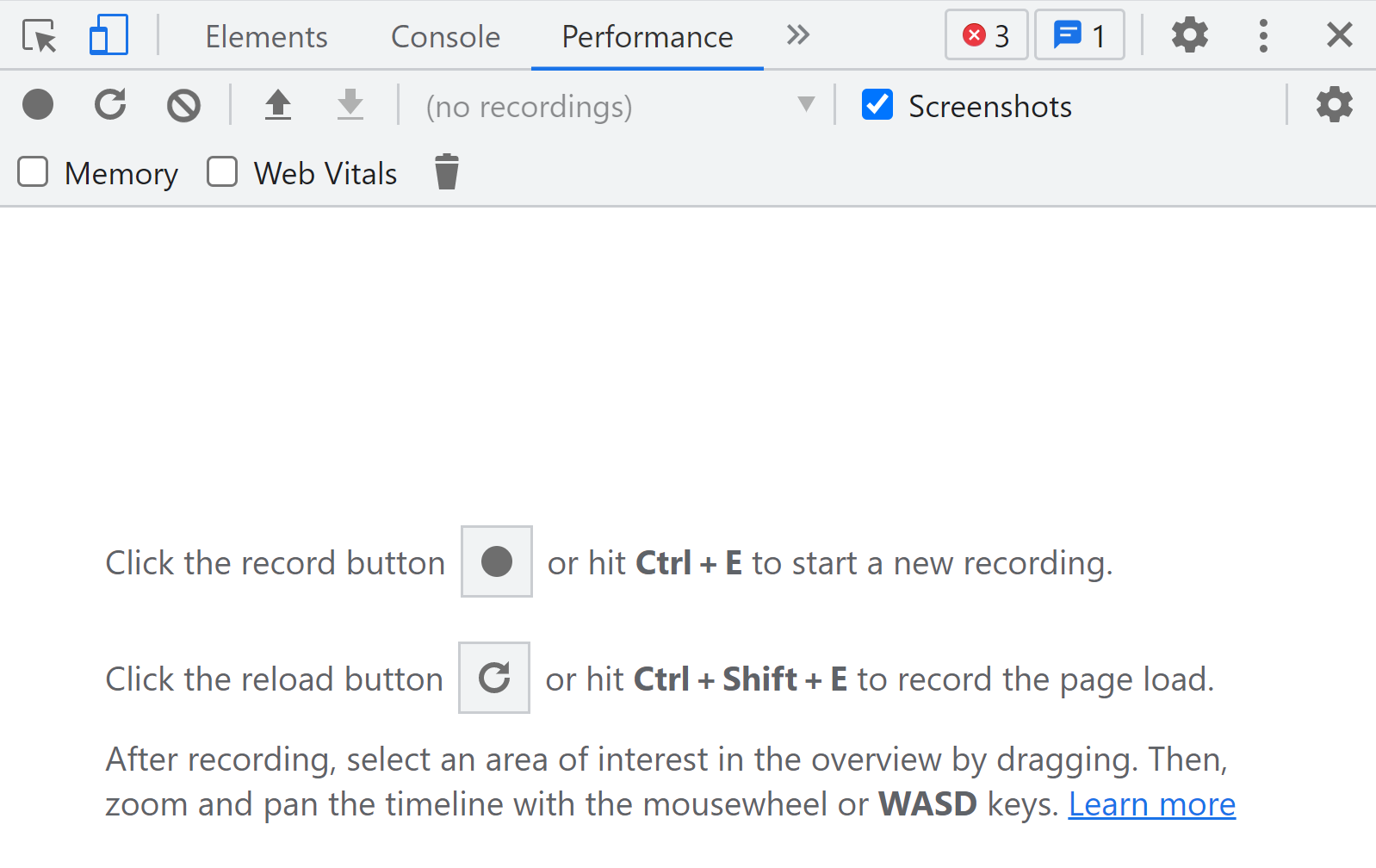 Recording performance tests using Chrome Dev Tools