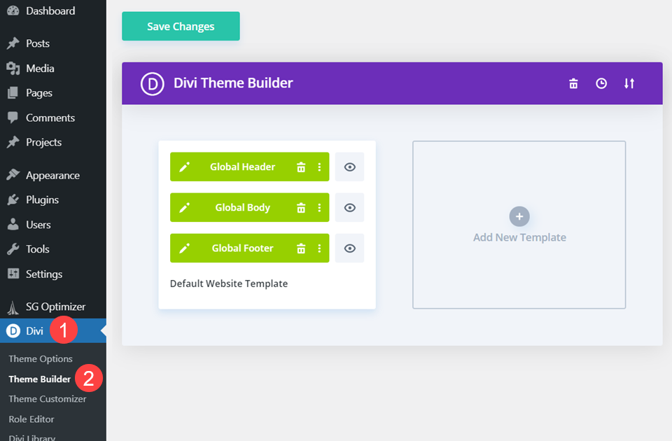 theme builder templates to exclude post or page