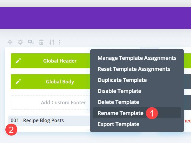 rename context menu
