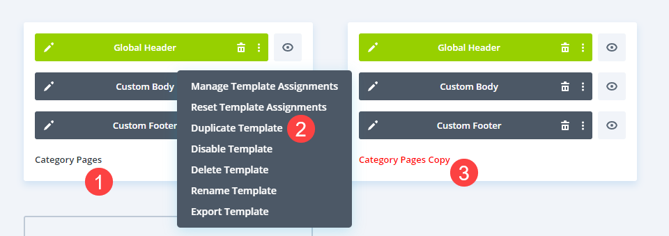 category pages copy