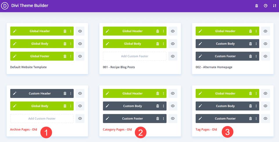 organize templates
