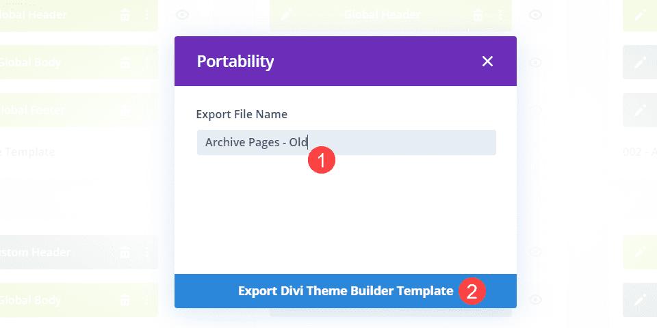 export for organization