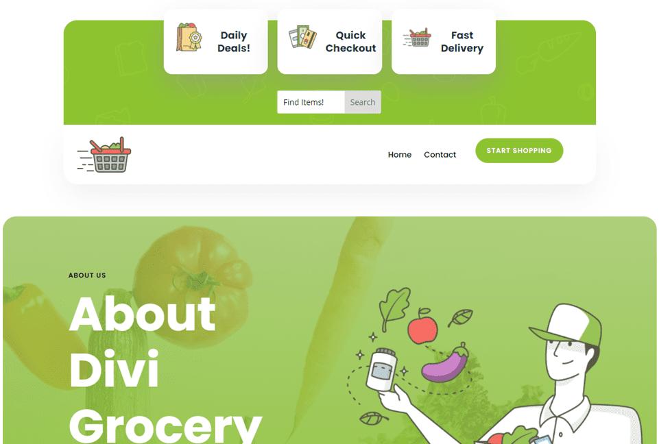 desktop version of the divi search field