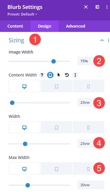 content width