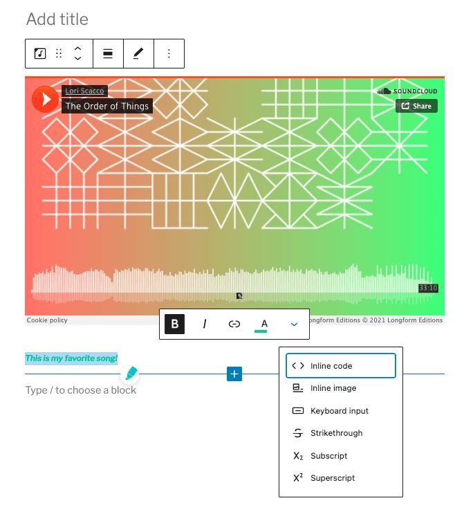 soundcloud embed
