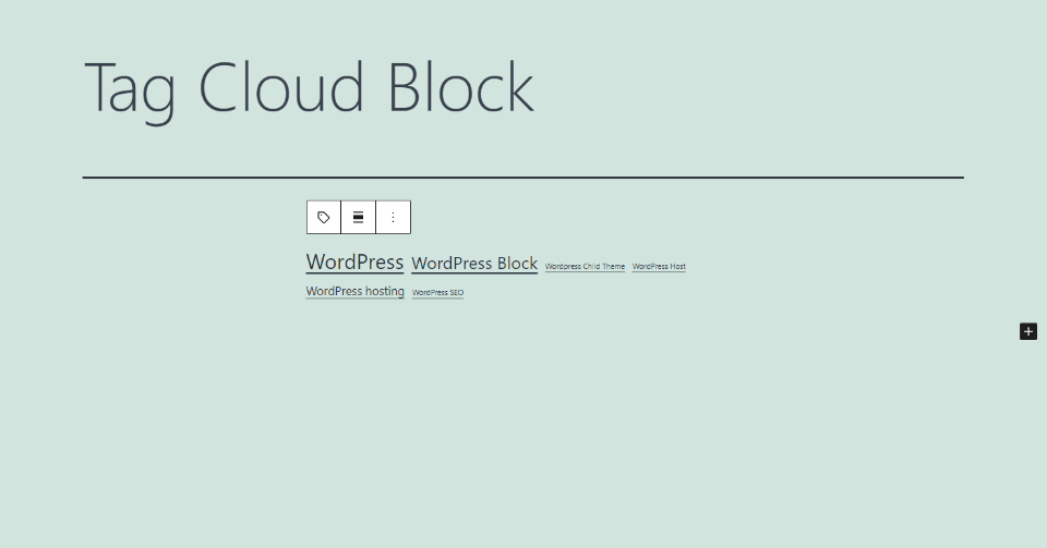 How to Add the Tag Cloud Block to your Post or Page