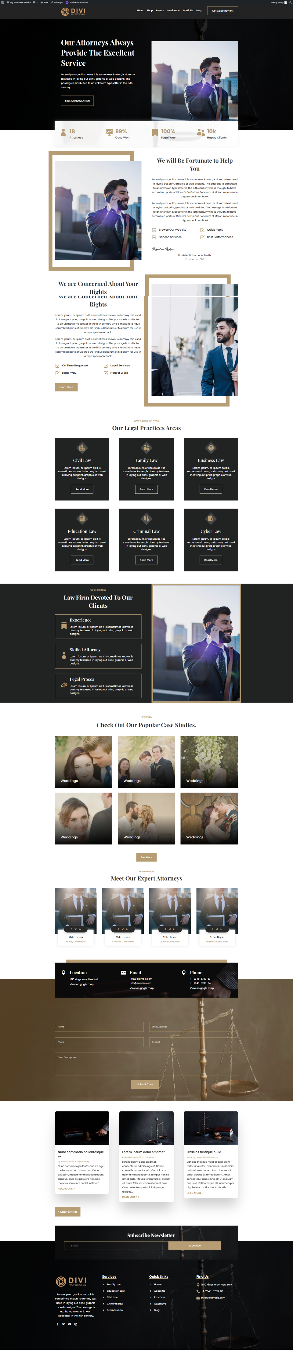 Ultimate Divi Modules UI Bundle Lawyer and Law Firm