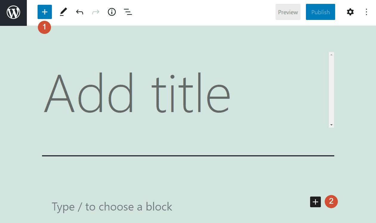 Adding a new block in WordPress
