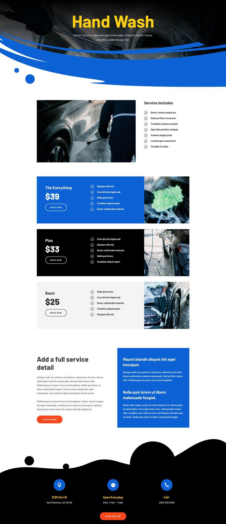 car wash website