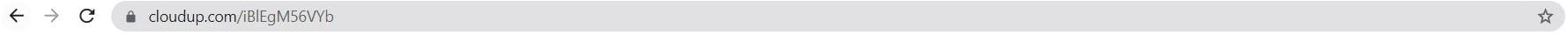 An example Cloudup URL.
