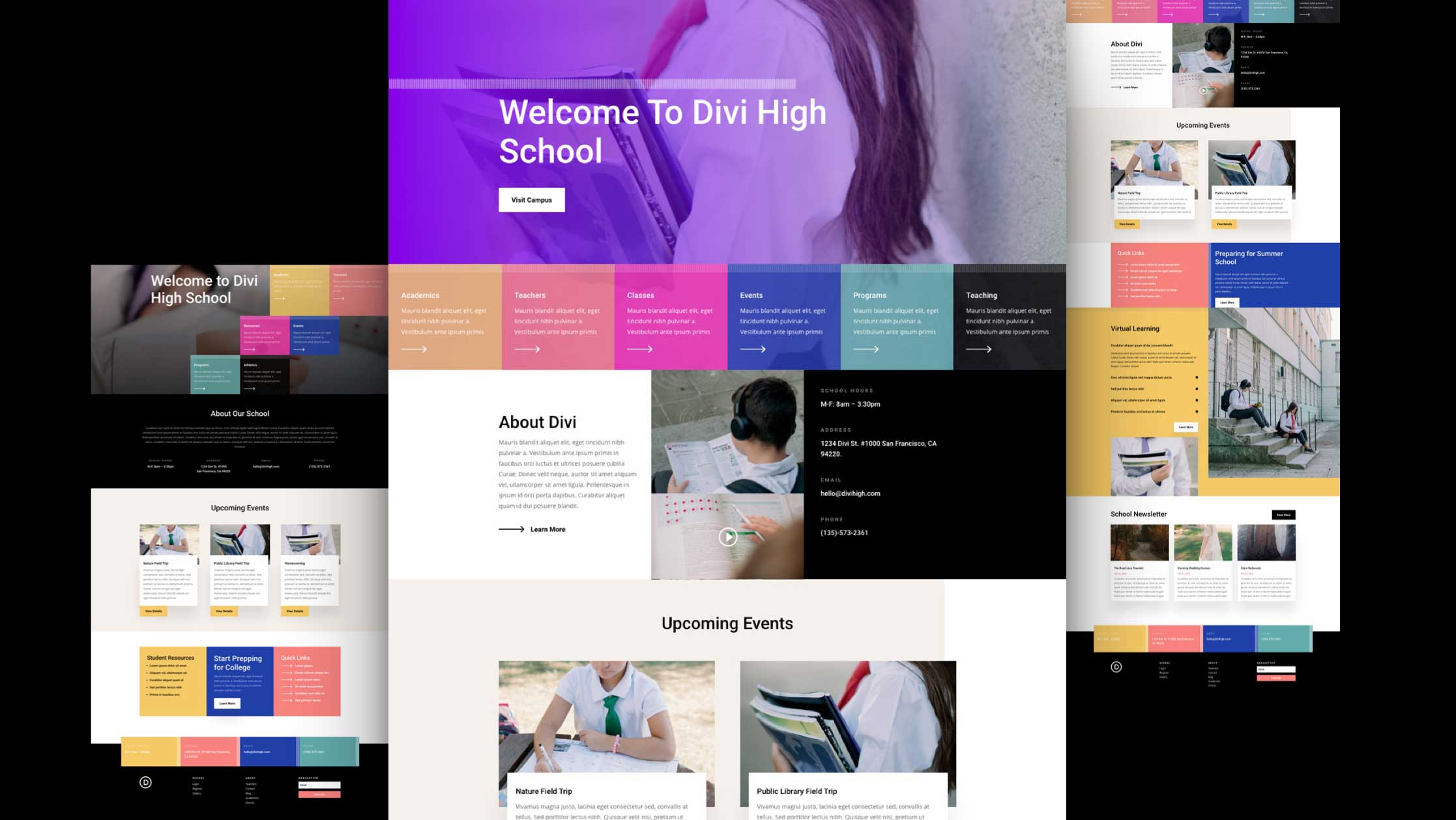 Get a FREE High School Layout Pack for Divi