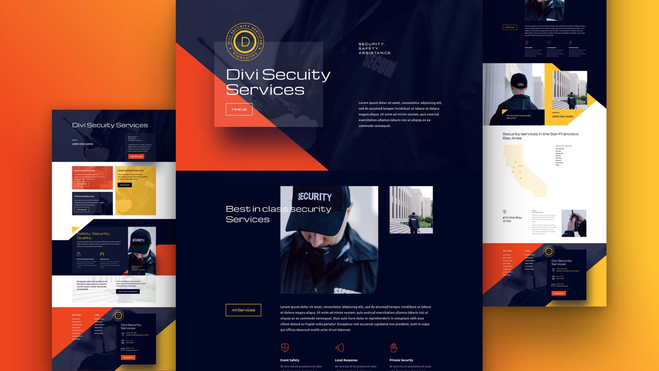 Get a FREE Security Services Layout Pack for Divi
