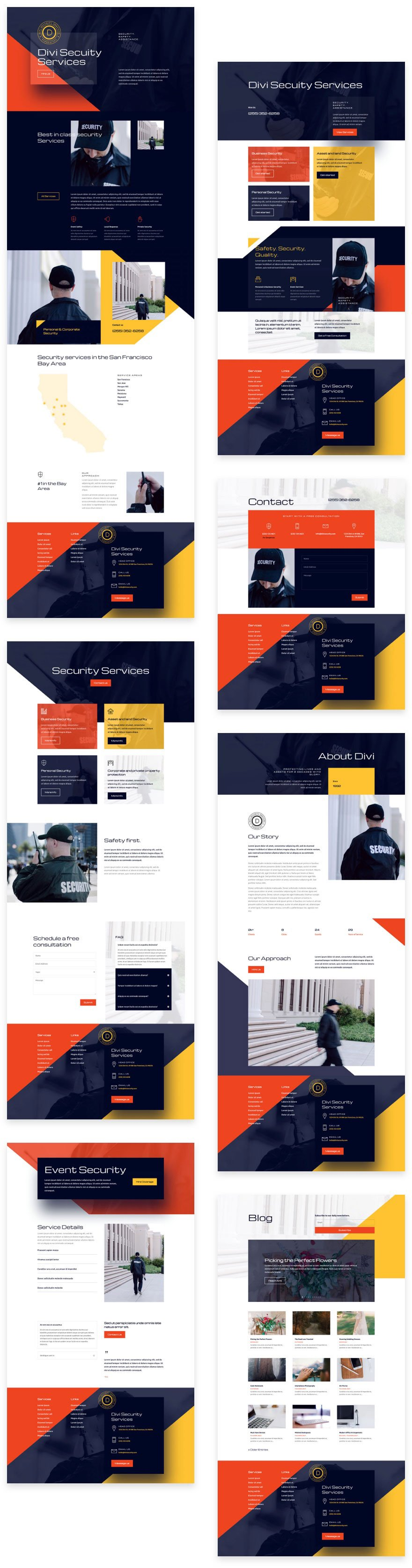 security services layout pack
