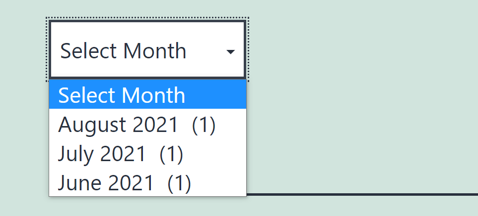 Adding a dropdown archives menu