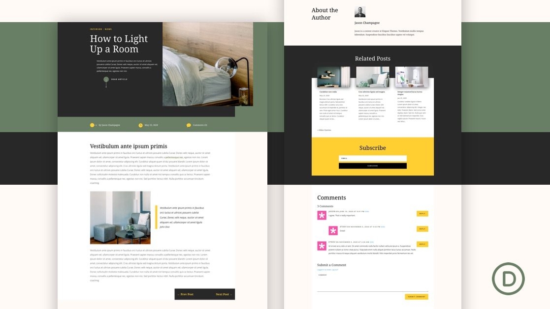 Download a FREE Blog Post Template for Divi's Home Staging Layout Pack