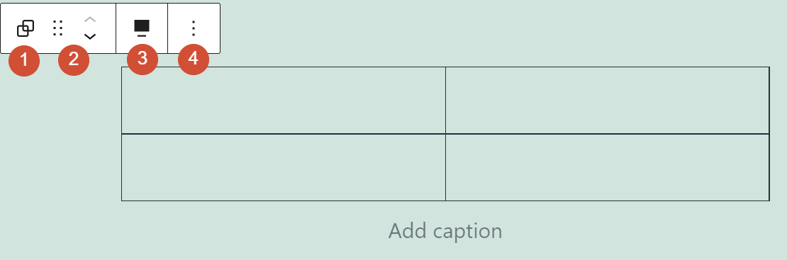 The Group block's formatting options