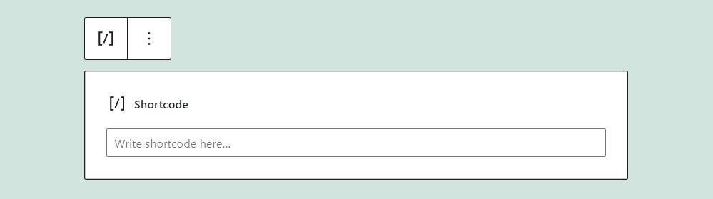 Adding a shortcode