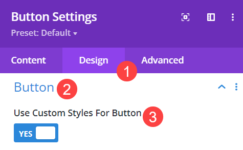 styling the button