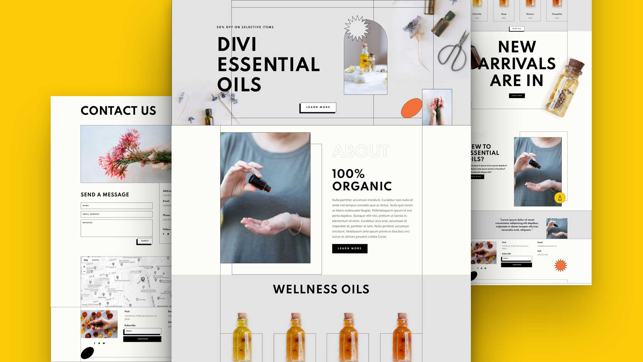 Get a FREE Essential Oils Layout Pack for Divi