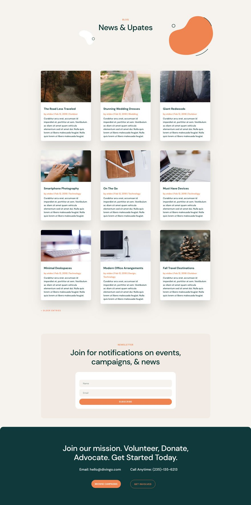 divi NGO Layout Pack