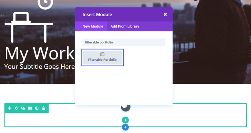 filterable portfolio module