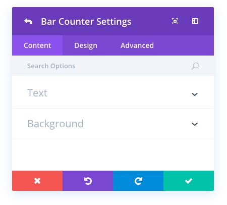 bar counters module