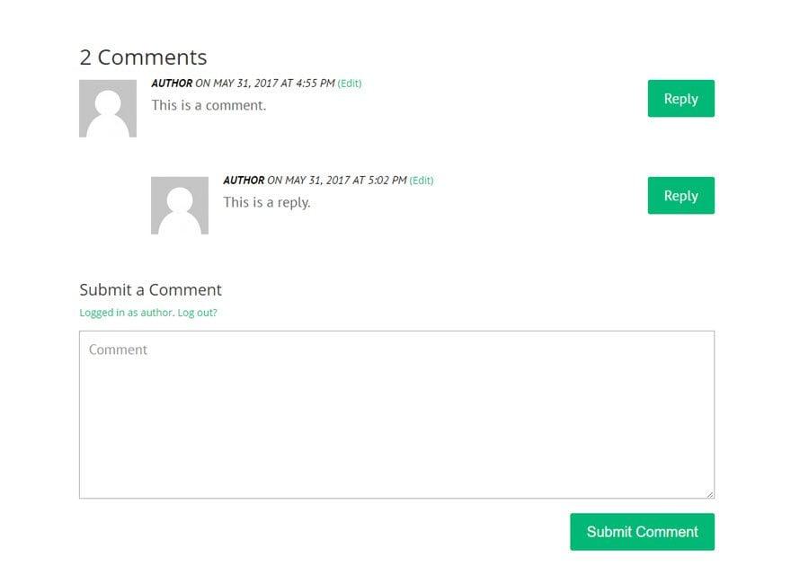 comments module