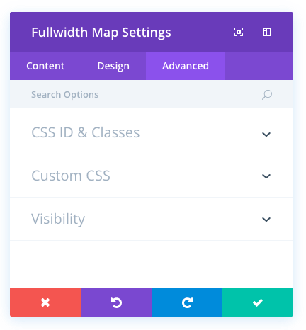 fullwidth map module