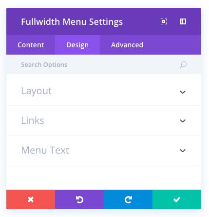 fullwidth menu module