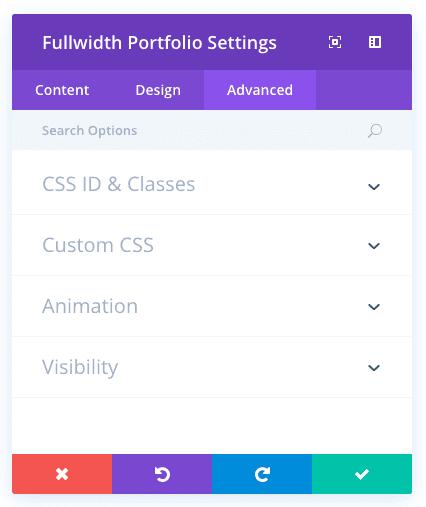 fullwidth portfolio module