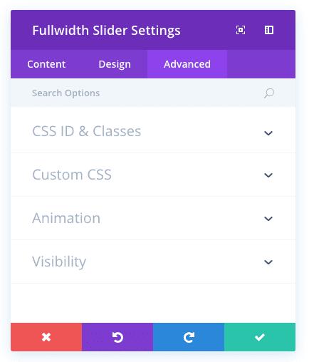 fullwidth slider module