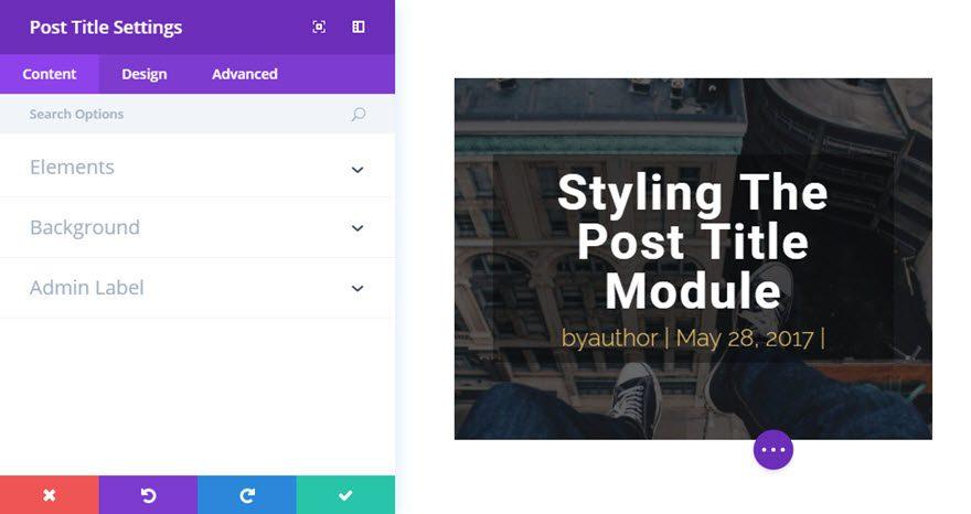 post title module