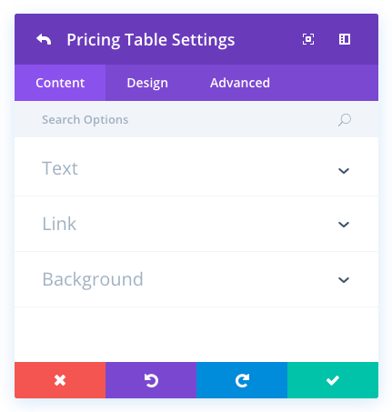 Pricing Tables Module