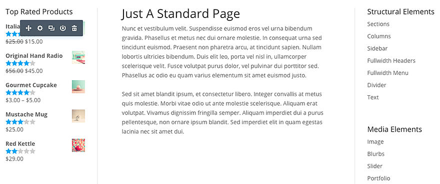 sidebar module