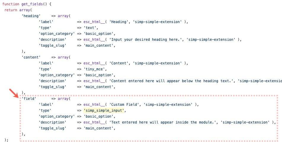 custom fields for divi builder modules