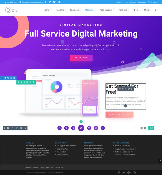 Divi The Ultimate Wordpress Theme Visual Page Builder