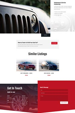 Car Dealer Layout Preview