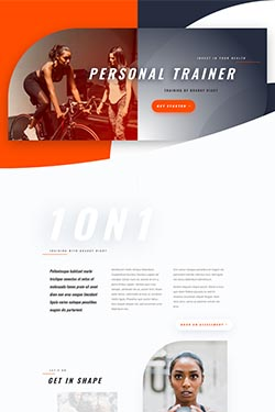 Personal Trainer Layout Preview