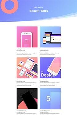 Visualização de layout de marketing