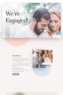 Pré-visualização do layout do casamento