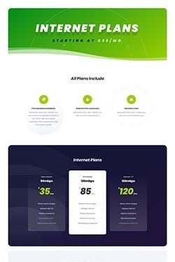 Visualização do layout do provedor de serviços de Internet